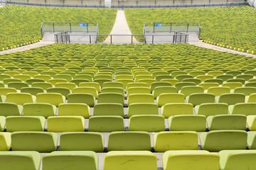 Papiers peints Stade de football Green Stadium Chairs