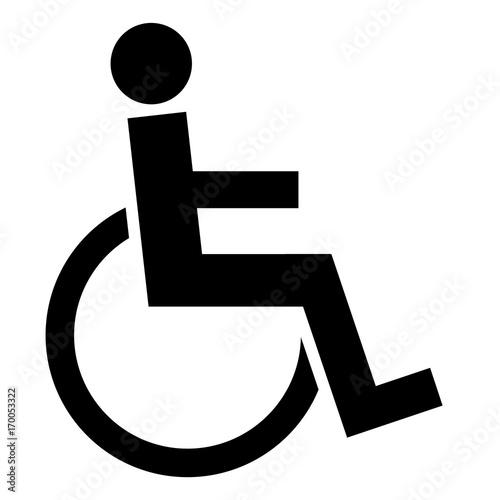 Gz45 Grafikzeichnung German Person Im Rollstuhl Logo Zeichen