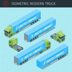 Isometric cargo truck