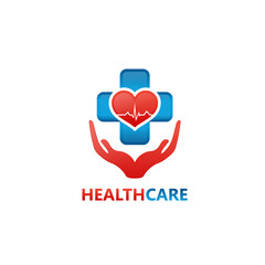 Medical Protection Logo Template Design