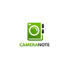 Note Camera Logo Template Design