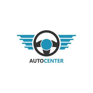 steering wheel Logo Template Design