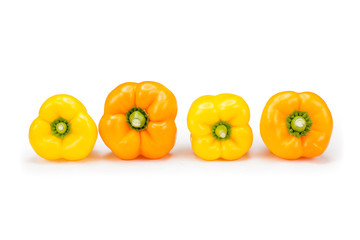 orange and yellow bell peppers