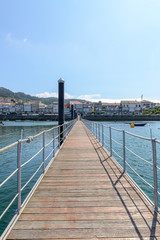 view of the pedestrian pier in the port