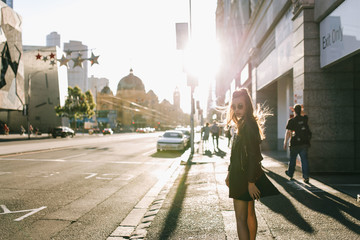 Portrait of a young lady on the streets of Australia