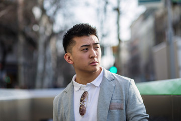chinese businessman in the street