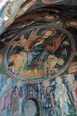 Damaged Christian frescoes