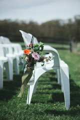 Bohemian Wedding Chairs and Flowers