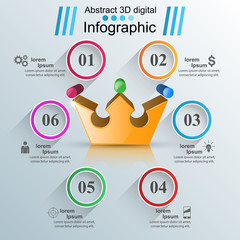 Business Infographics origami style Vector illustration. Vector, eps 10