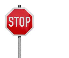 Stop, Verkehrsschild mit Textfreiraum