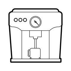 Coffee machine icon Coffee time drink and beverage theme Isolated design Vector illustration