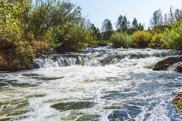 Suenginskiy waterfall. The Suenga River,Siberia, Russia
