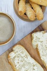 bread for breakfast vertical