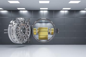 bank vault opened