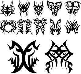 Tribal Tattoo Designs Collage Vol 1