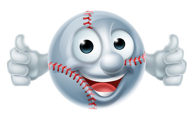 Baseball Softball Ball Man Cartoon Character