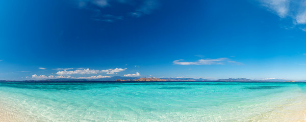 Beautiful beach. View of nice tropical beach. Holiday and vacation concept. Tropical beach.