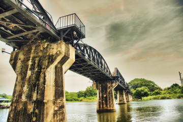 Bridge over the River Kwai in Thailand