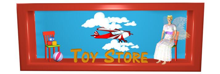 schöner Header für einen Internetshop mit Spielsachen.