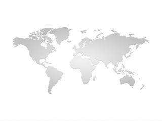 Obraz Szara mapa ziemi - fototapety do salonu