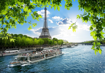 Boat trip on Seine
