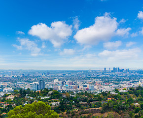 Wall Mural - Clouds over the greater Los Angeles