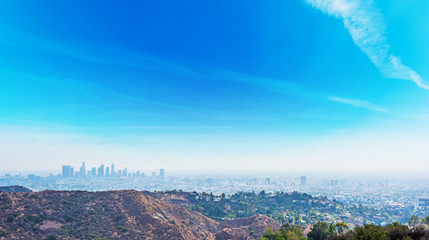 Wall Mural - Clear sky over Los Angeles