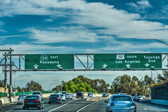 Traffic in 101 freeway