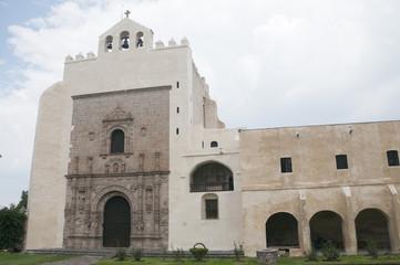 Ancient convent of Acolman in Mexico