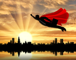 Superman businessman superhero