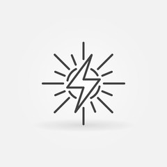 Solar energy outline icon