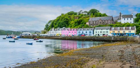 Portree, the main town in the Isle of Skye, Scotland.