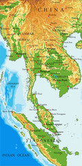Indochina physical map