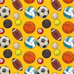 balls sports pattern background vector illustration design