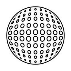 golf ball isolated icon vector illustration design