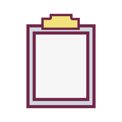 medical prescription and check list element vector illustration