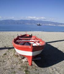 Barca in spiaggia