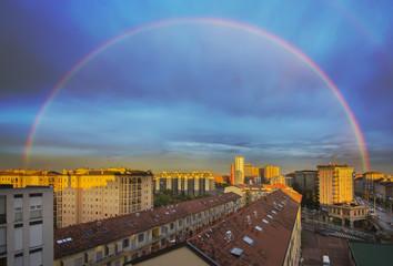 Arcobaleno a Milano