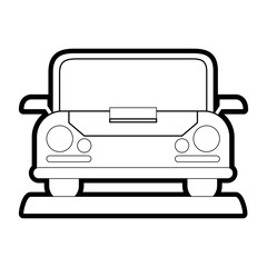 Car of automobile transportation and vehicle theme Isolated design Vector illustration