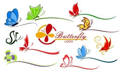 Logo of butterflies.
