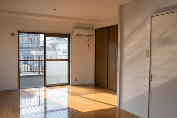 Empty apartment for rent in Tokyo, Japan 賃貸アパートの空室