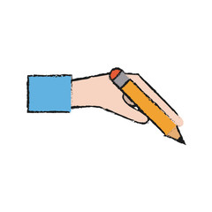 Pencil icon of tool write and office theme Isolated design Vector illustration
