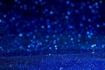 blue glitter texture christmas abstract background. Abstract blue lights on background. bokeh blue...