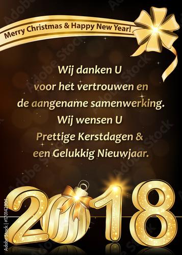 Gelukkig Nieuwjaar 2018!   winter kaartje