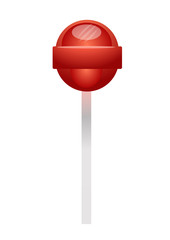 Red lollipop candy. Vector Illustration