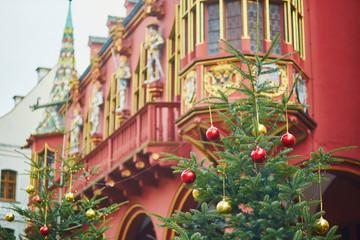 Christmas decorations in Freiburg im Breisgau, Germany