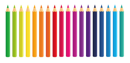 Vector Crayons_colored pencil collection loosely arranged_SET6