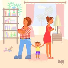 family scandal in room