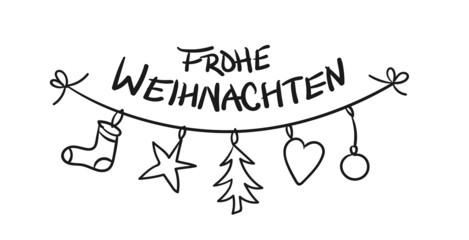 Frohe Weihnachten Kette Christbaumschmuck