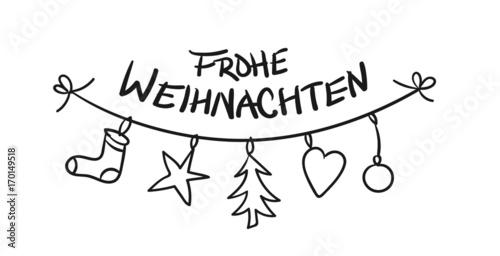 Frohe Weihnachten Clipart.Frohe Weihnachten Kette Christbaumschmuck Stockfotos Und